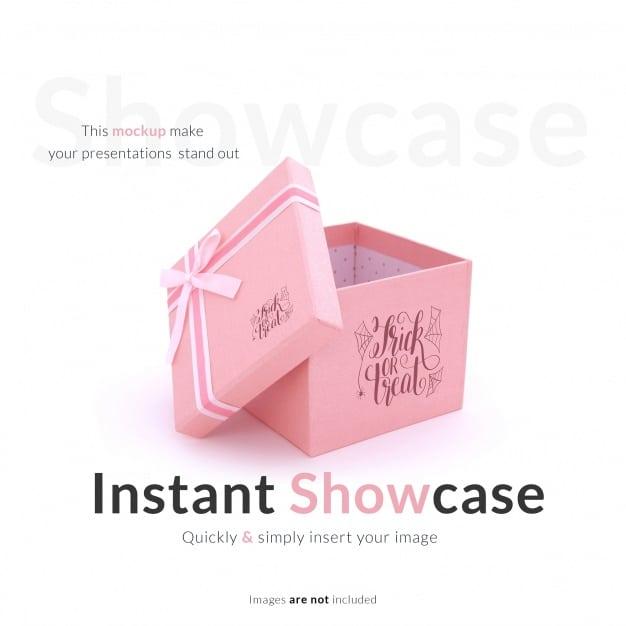Cute Pink Gift Box