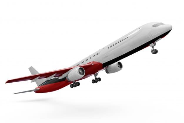 Airplane Takeoff Scene