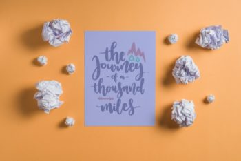 Free Quote Paper Design Mockup in PSD