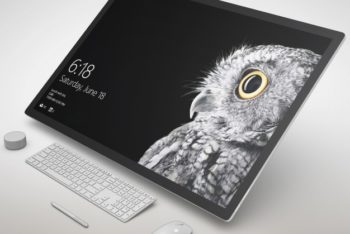 Free Awesome Monitor Design Mockup in PSD