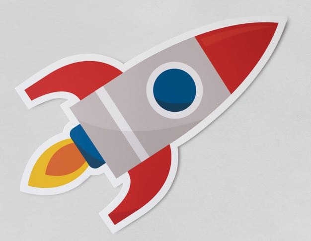 Launching Rocket Ship Symbol
