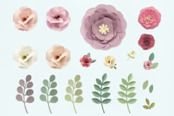 Free Rose Pattern Floral Texture Mockup in PSD