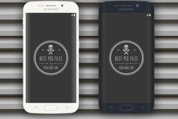 Free Black Plus White Samsung Galaxy Edge Mockup in PSD