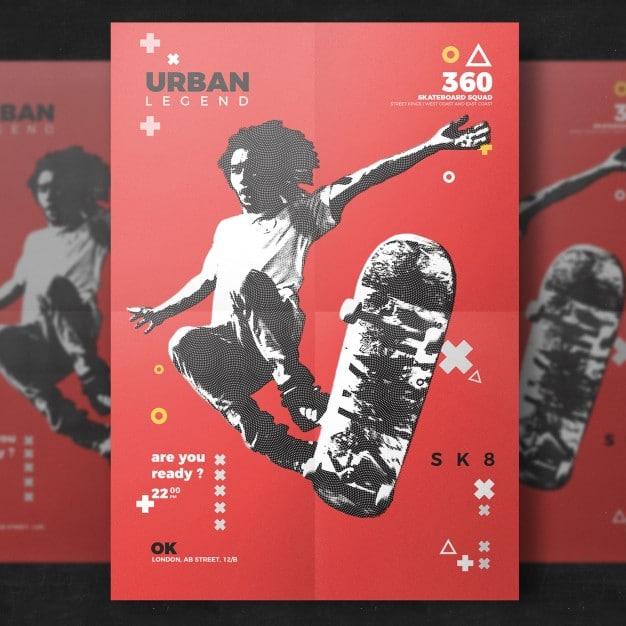 Skateboard Flyer Design