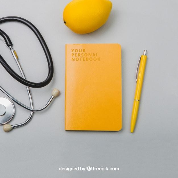 Lemon Stationery Plus Stethoscope