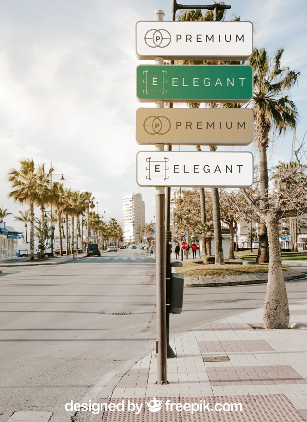 Elegant Street Sign Design