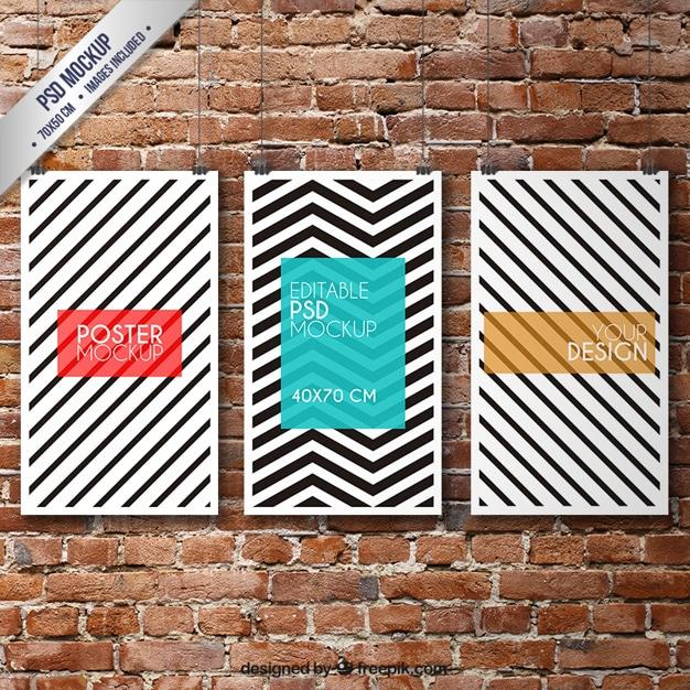 Striped Poster Design