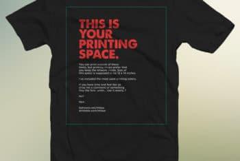 Free Shirt Advertising Design Mockup in PSD