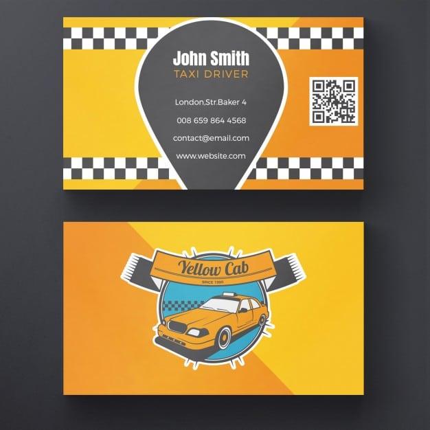 Taxi Business Card Design