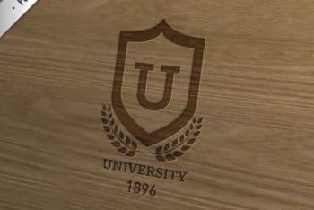 Free University Insignia Design Mockup in PSD