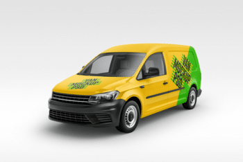 Van Advertising PSD Mockup Available for Free
