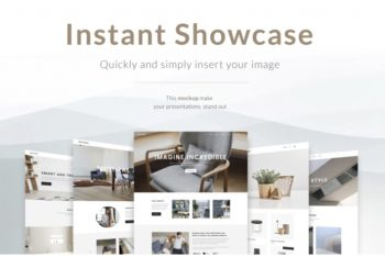 Web Page Design PSD Mockup Available for Free
