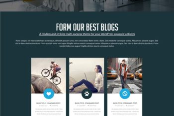 Website Template Available in PSD Format & For Free