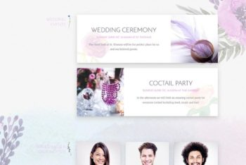 Free Wedding Plan Template Mockup in PSD