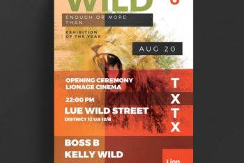 Free Wild Life Flyer Design Mockup in PSD