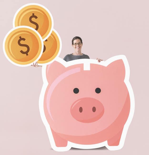 Piggy Bank Plus Woman