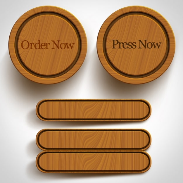 Wooden Buttons Design