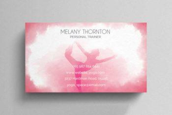 Yoga Business Card Template