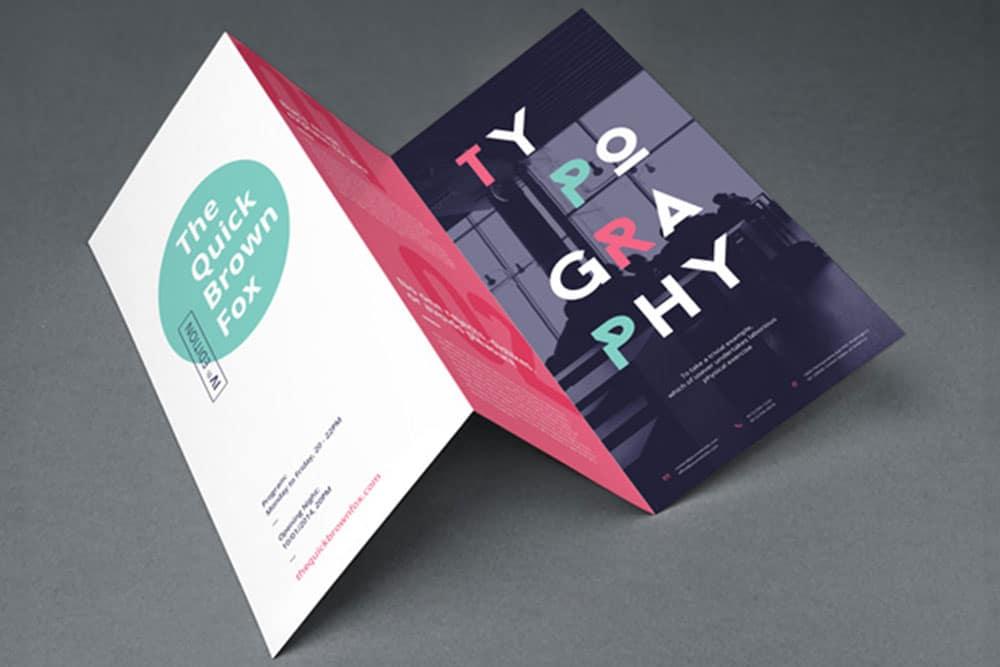 PSD trifold brochure mockups