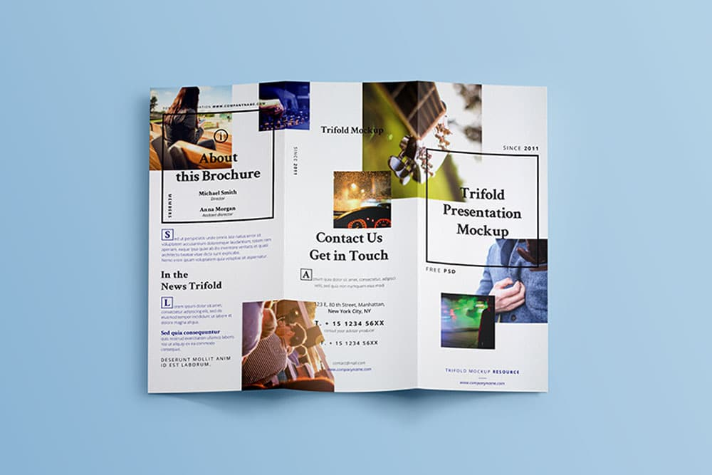 PSD trifold brochure