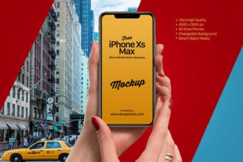 Awesome iPhone Xs Max PSD Mockup for Photorealistic Presentation