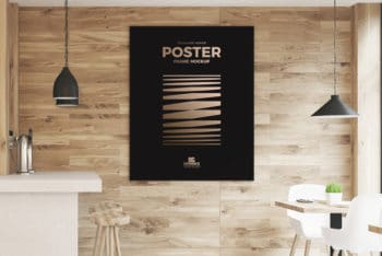 Attractive Indoor Poster Mockup – Available with a Superb Restaurant Background