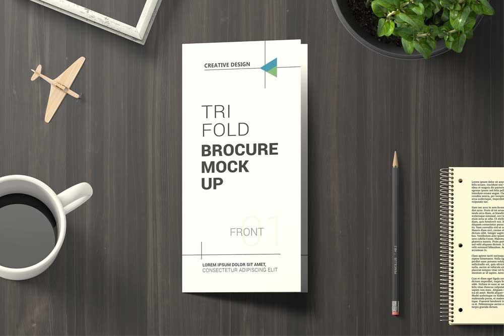 trifold brochure PSD