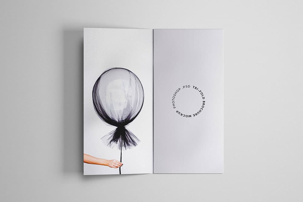 simple and customizable trifold brochure mockups