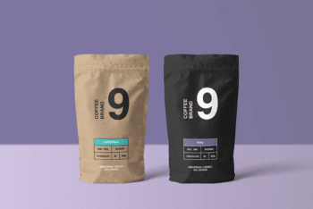 Paper-made Coffee Bag PSD Mockup for Free