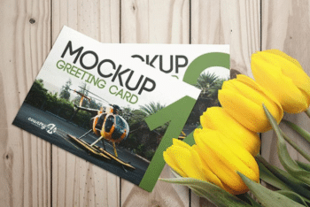 Greeting Card Mockup for Photorealistic Presentation