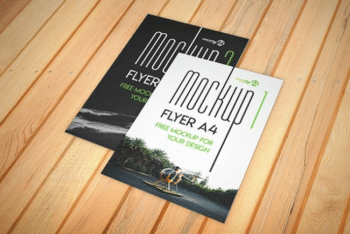 A4 Sized Flyer Mockup – Available in Layered PSD Format
