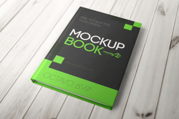 Hardcover Book PSD Mockup – Sober Design Blends with Useful Features
