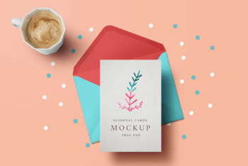 Holiday Greeting Card Mockup – Available in High resolution & PSD Format