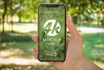 Photorealistic iPhone X PSD Mockup for Free