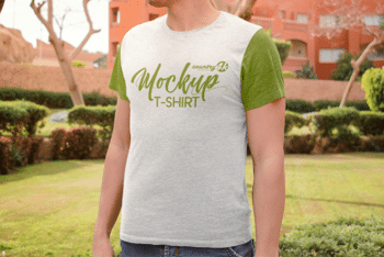 Trendy Men T-shirt Mockup – Available in Layered PSD Format