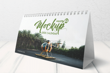 Desk Calendar PSD Mockup – Available in Layered Format