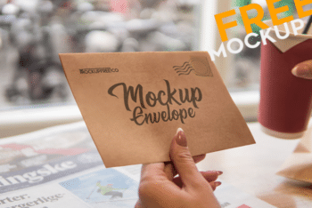 Envelope Mockup for Free – Available in Layered PSD Format