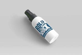 Medical Bottle Label Design PSD Mockup for Free