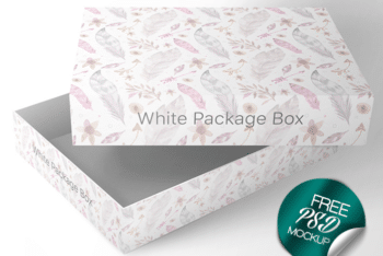 Beautiful Box PSD Mockup for Free