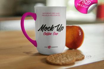 Useful & Free Mug Mockup – Available in Layered PSD Format