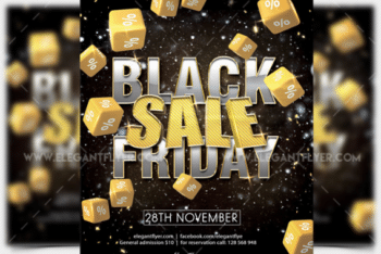 Black Friday Sale Promotional Flyer Mockup Available in Layered PSD Format