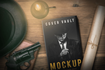 Detective Book Cover PSD Mockup for Free