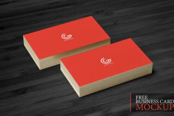 A Stack of Business Cards PSD Mockup Download for Free