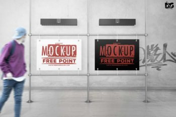 Street Side Billboard PSD Mockup for Outdoor Advertising