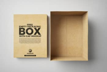 Packaging Box PSD Mockup for Free