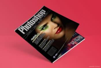 Vibrant Looking Free Magazine PSD Mockup