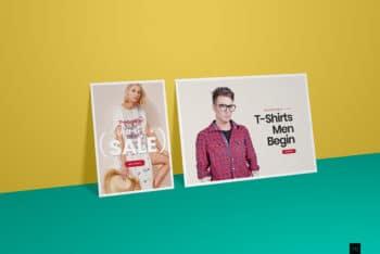 Horizontal & Vertical Poster Design Mockup for Free