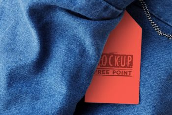 Jeans Tag PSD Mockup for Branding Purposes