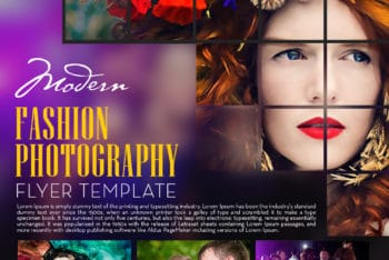 Beautiful Fashion Photography Flyer PSD Mockup for Free