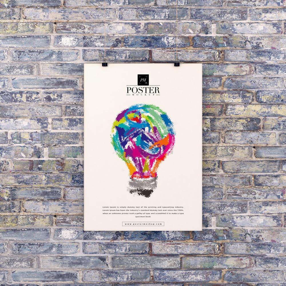 Poster Design PSD Mockup Download Free | DesignHooks